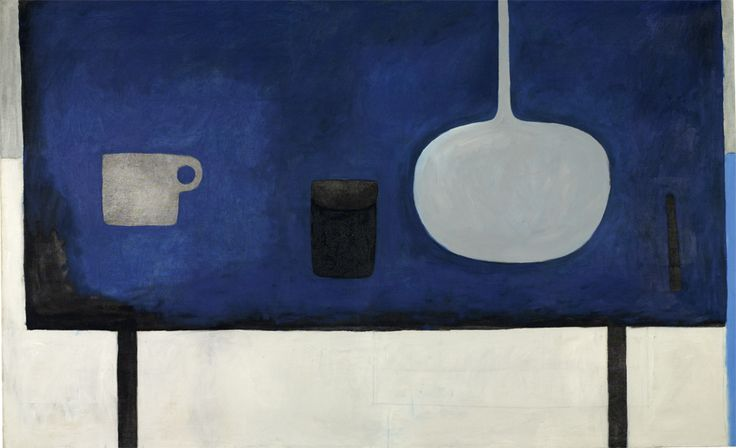 William Scott, Deep Blues, 1970–71, Oil on canvas, 198.3 × 121.6 cm / 78 × 47¾ in, Private collection