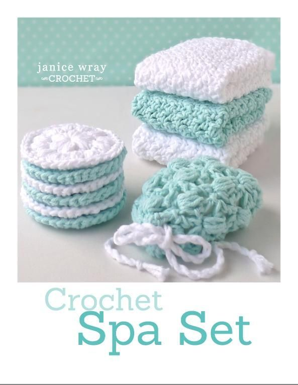 Spa Set cloth, ... by Janice   Crocheting Pattern - Looking for a crocheting pattern for your next project? Look no further than Spa Set cloth, scrubbie, soap saver from Janice! - via @Craftsy