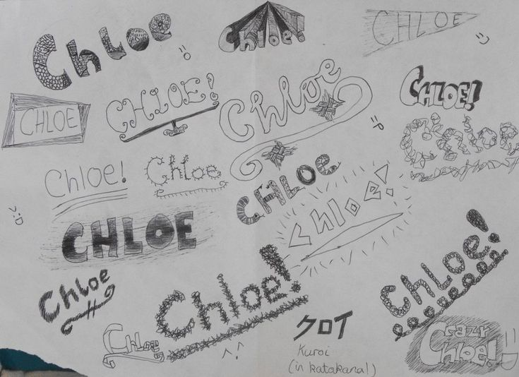 the name chloe Name doodle Chloe by MariaMarsbar on
