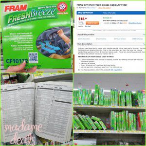 Keep pollen and pollution away from your family in the car. FRAM Fresh Breeze Cabin Air Filter #Review the best way to  #freshercar  #cbias http://madamedeals.com/fram-air-filter-review/