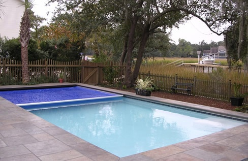 retractable pool cover. Automatic Pool Covers By All-Safe® Provide Safety And Reduced Maintenance Retractable Cover A