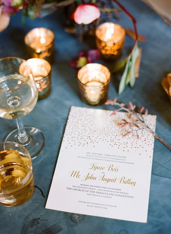 confetti daydreams wedding invitations%0A Ginny Branch  Stylist  Floral design by Amy Osaba  Ali Harper Photography   Gold InvitationsDiy Wedding InvitationsWinter