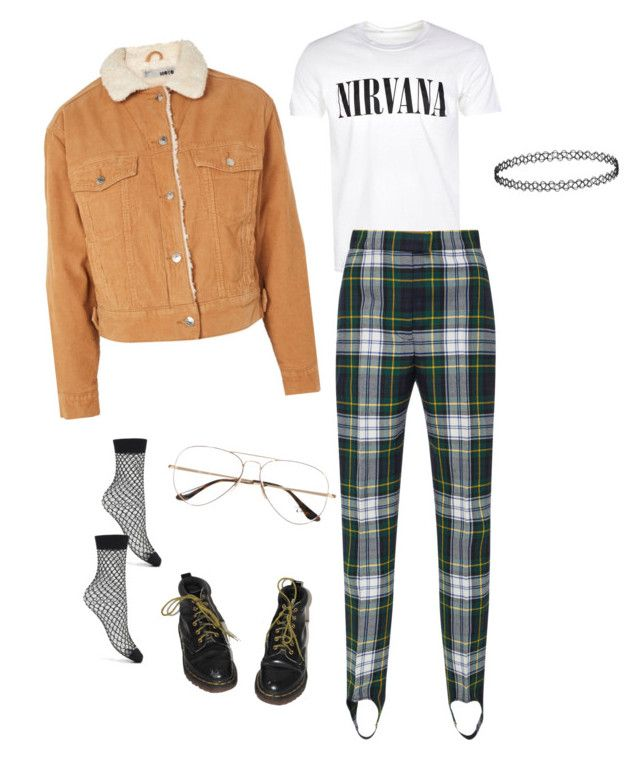 """""""Untitled #34"""" by trash4fashion on Polyvore featuring French Connection, Dr. Martens, Burberry and Ray-Ban"""