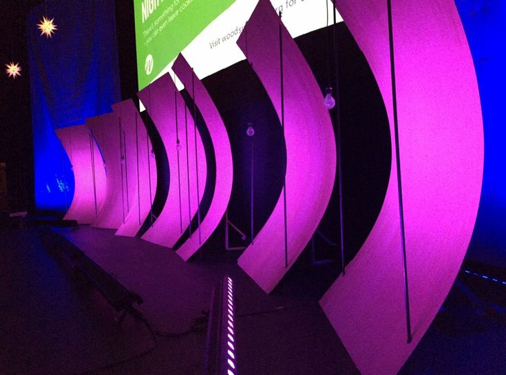 Curved Panels from Woodside Bible Church in Troy, MI | Church Stage Design Ideas