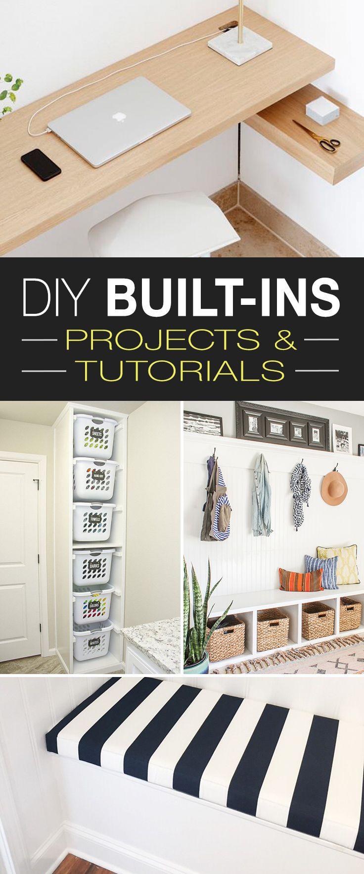 diy built ins ideas projects tutorials ohmeohmy u2022 diy home rh pinterest com