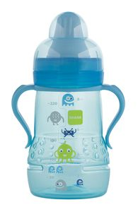 MAM training cups are the ideal way for babies to learn to drink independently from a glass. All of our MAM training cups are available in different colors and designs and are BPA- Free!