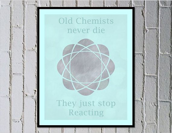 Science prints, Chemistry geeky wall art prints digital download by Made by Gia $4.50
