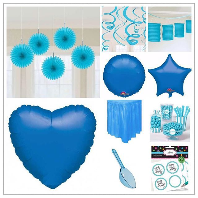 #PartiPaketi #Mavisüsler#blue #valentines #süsleme #mavi #mekan #sofra #dekor #balon #fener #şeker #büfesi #yaz #partiler