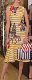 Yellow Stripe Cocktail Dress