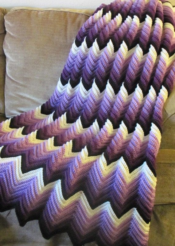 faded ripple crochet - Google Search