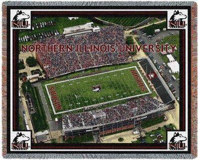 Northern Illinois University Stad (Tapestry Throw)