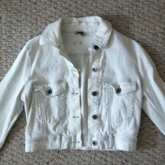 Diesel Denim Jacket White, cropped Diesel denim jacket Diesel Jackets & Coats