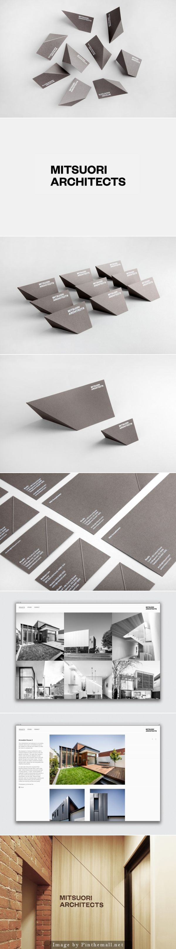 Mitsuori Architects #business #cards designed by Hunt &Co.