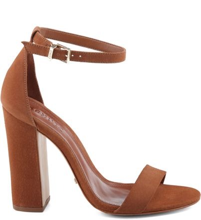 SANDÁLIA SINGLE STRIPE CAMEL | Schutz                                                                                                                                                      Mais