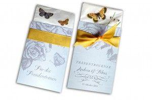 Weil es keine Hochzeit ohne Tränen gibt! Taschentuchhüllen für Papiertaschentücher