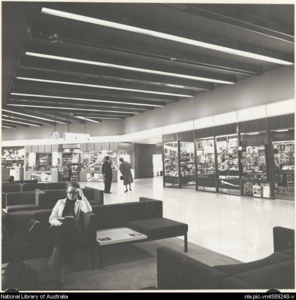 Edwards, Don. Section of the shopping complex at Melbourne Airport 1971…
