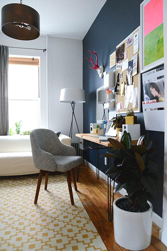 style girlfriend home office. shared space : office/living room