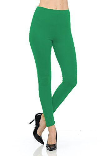 Stretchy and Soft Long Cotton Leggings with an Elaticized Waist  http://darrenblogs.com/us/2018/01/30/jntop-elasticized-waist-cotton-leggings-kelly-green-medium/
