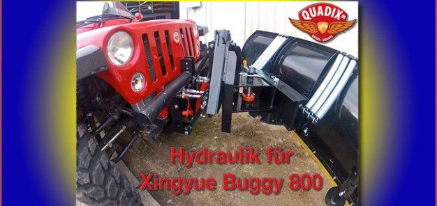 Quadix: Hydraulik für den Buggy 800 Für den Winterdienst bietet Quadix eine Hydraulik für den Buggy 800; im Winter hebt sie ein Schneeschild, im Sommer kann sie den Holzspalter betreiben http://www.atv-quad-magazin.com/aktuell/quadix-hydraulik-fur-den-buggy-800/