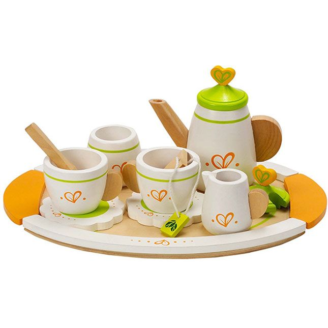Tea Set for Two and thousands more of the very best toys at Fat Brain Toys. Tea time is the perfect time to take a break and talk with a friend - Real or stuffed! Complete with all you need including a teapot, teacups, a big tray, and more - This tea set is a must have for any friendly meeting.