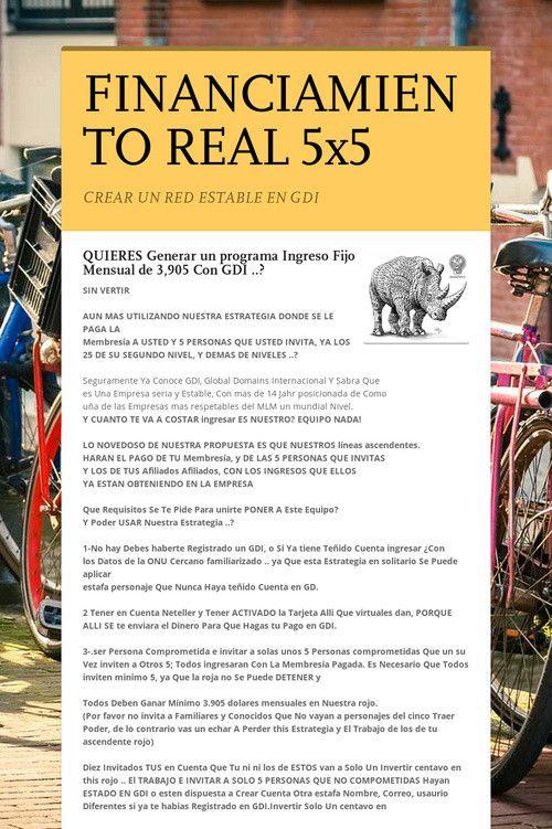 FINANCIAMIENTO REAL  5x5