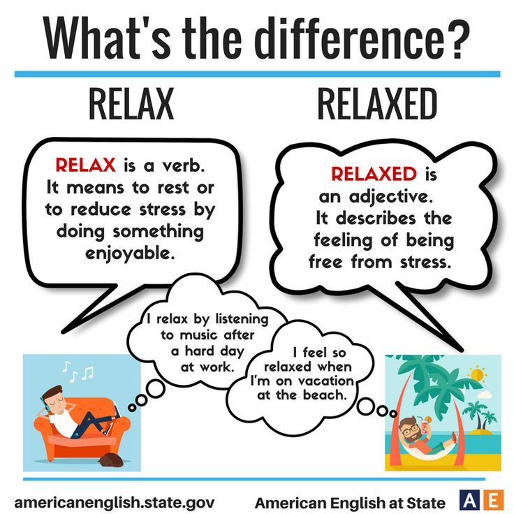 What's the difference? Relax / Relaxed