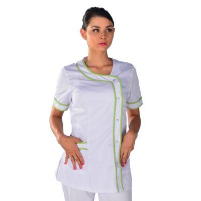 Tunique médicale blanche et vert anis Clinic Look
