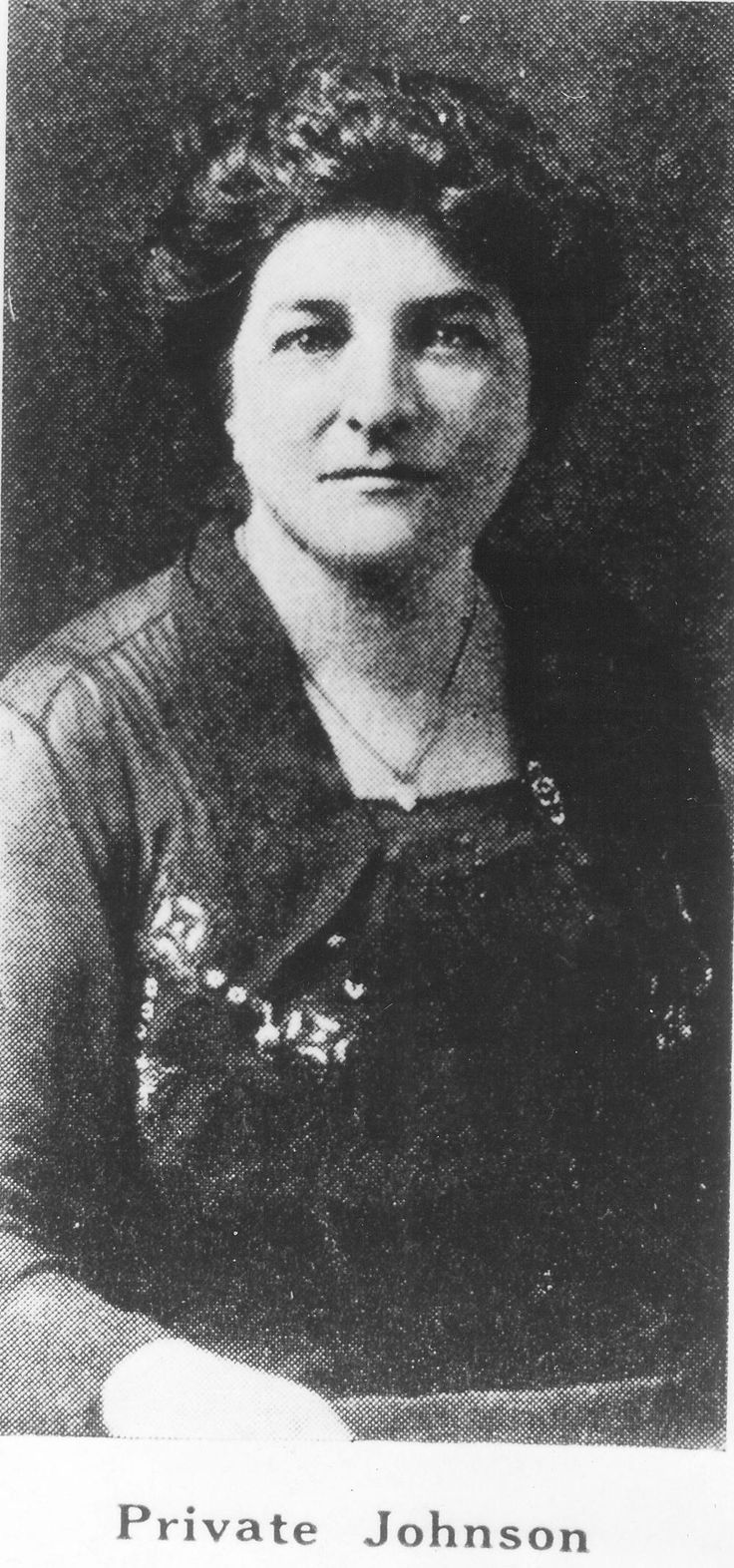 Pvt. Opha May Johnson, 40, first enlisted female Marine sometime after joining the Marine Corps. Johnson enlisted into the reserve in August 1918. (Courtesy of the Marine Corps History Division, Historical Reference Branch)  Read more: http://www.dvidshub.net/image/993597/female-marines-celebrate-95-years-corps#.Ugki3VO9x4w#ixzz2bmMnCiq6