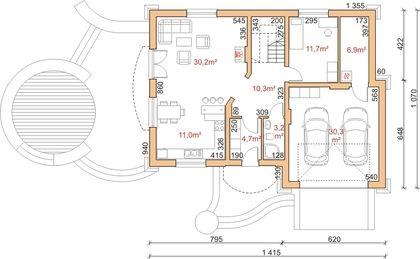 Projekt domu Dom przy Słonecznikowej - DOM EB3-03 - gotowy projekt domu