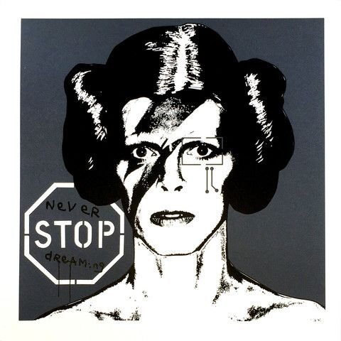 Brad Novak (aka NBP76) Princess Bowie 1.11, 2015 2-color limited edition screen print on Italian Fabriano paper (300gsm) Edition of...