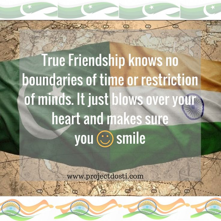 Friendship knows no boundaries and ignores time #India #Pakistan