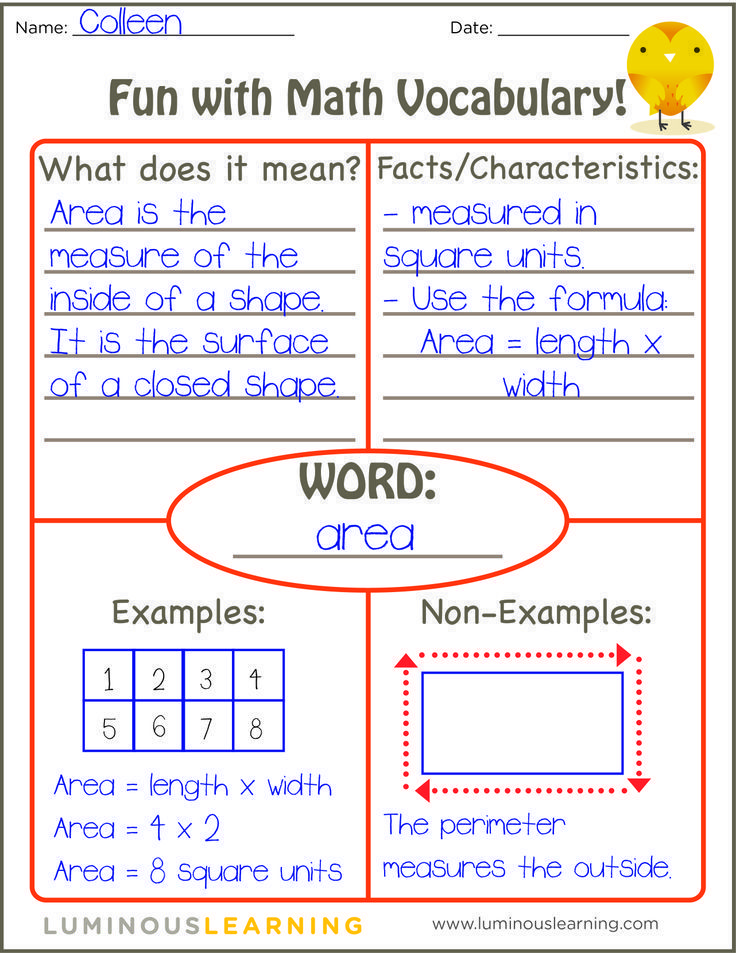 Learn how to use the Frayer Model to reinforce math vocabulary in your classroom (and receive a FREE printable!)