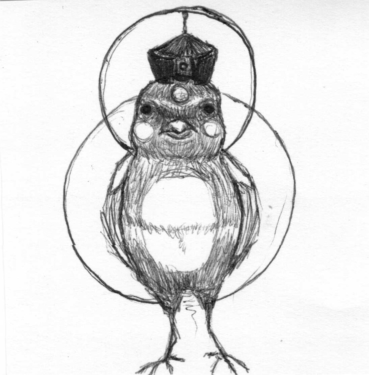 Karmapa Bird  Pen on Paper