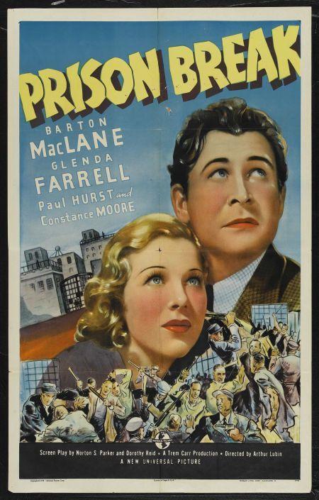 Glenda Farrell and Barton MacLane in Prison Break (1938)