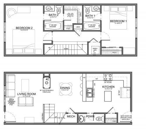 29 best Townhouse Floor Plans images on Pinterest Townhouse