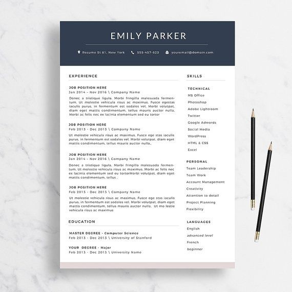 34 best cv images on pinterest creative cv etsy business and fonts professional resume template cover letter for by theresumedesign yelopaper Choice Image