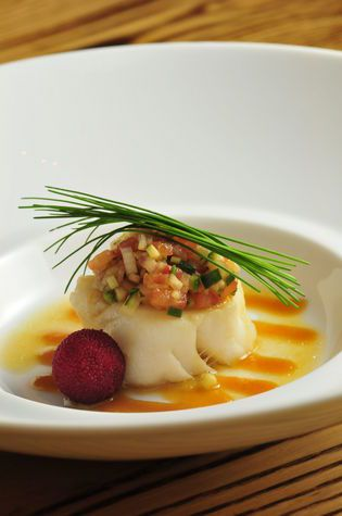 Chilean Sea Bass (note: remove the excessive amount of chives)