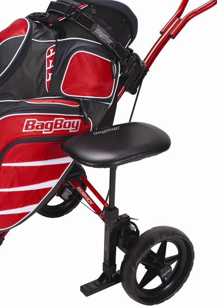 Take the weight off of your feet with this extremley comfortable and great value golf trolley cart seat by Bag Boy!