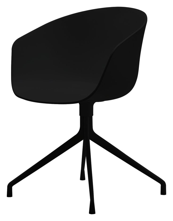 Toll Fauteuil Pivotant About A Chair / 4 Pieds Noir / Pied Noir   Hay