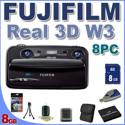 Introducing Fujifilm FinePix Real 3D W3 Digital Camera BigVALUEInc 8PC Saver Bundle. Great Product and follow us to get more updates!