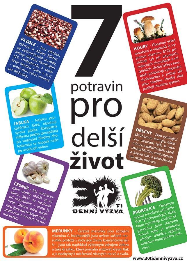 7 potravin pro delší život - 30ti denní výzva