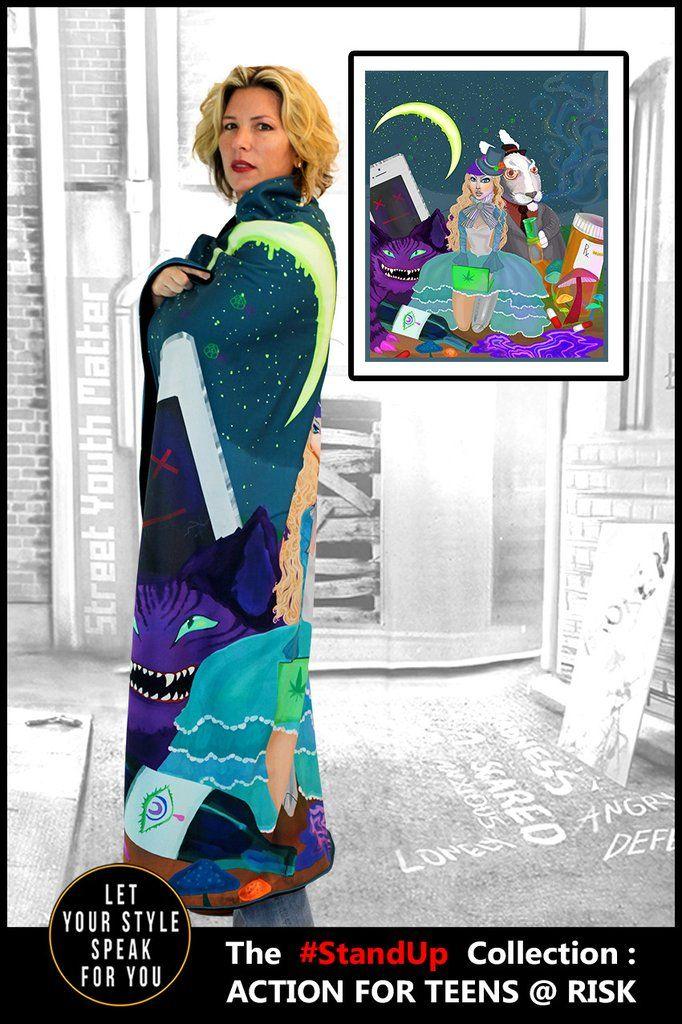 Modern Day Wonderland - Microsuede Blanket