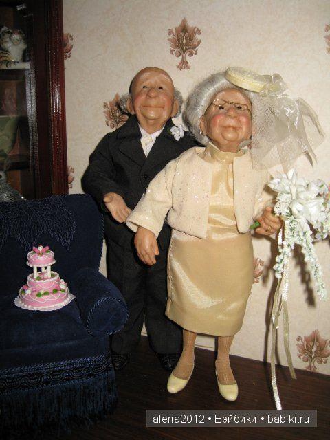 Золотая свадьба. Annie Wahl, Richard Simmons / Другие коллекционные куклы / Бэйбики. Куклы фото. Одежда для кукол