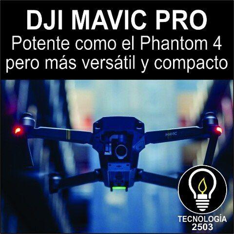 DJI MAVIC PRO    Tras conquistar el sector condronescomo elPhantom 4 o el Inspire 1, DJI apuntó en septiembre hacia formatos más compactos y cercanos al usuario. Así nació el DJIMavic Pro, undronedel tamaño de una botella de agua con las mismas prestaciones que su hermano mayor, elPhantom 4. Este es su análisis a fondo. (Ver nota completa en el link de la biografía)    #Dji #DjiMavicPro #Dron #tecnologia #Phantom4 #Drones