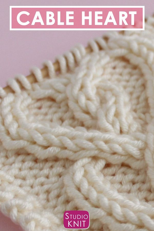Knit a Cable Heart Stitch Pattern with Video Tutorial