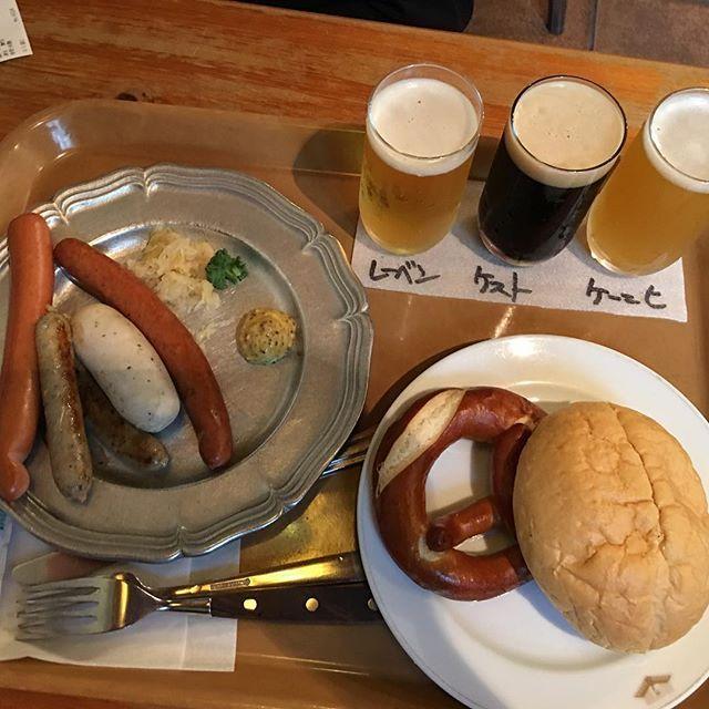愛知県犬山市のリトルワールドに行きました。 お昼はビール3種飲み比べとウインナーとプレッツェル食べました。  肉フェスタ、色々食べました。混んでたけど、子供達が喜んで?くれてよかったです 楽しかったよ!  #犬山市#リトルワールド#肉フェスタ#愛知県#ゴールデンウィーク#肉