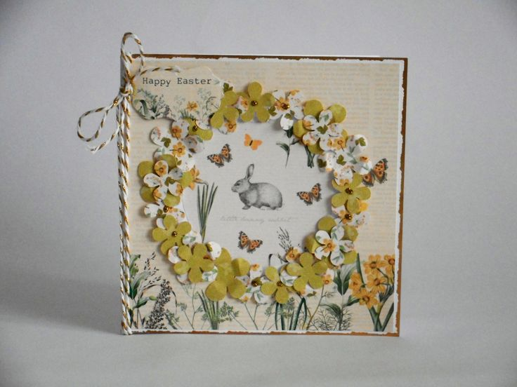 Easter Card made by Phillipa Lewis using Craftwork Cards Meadow Kit.