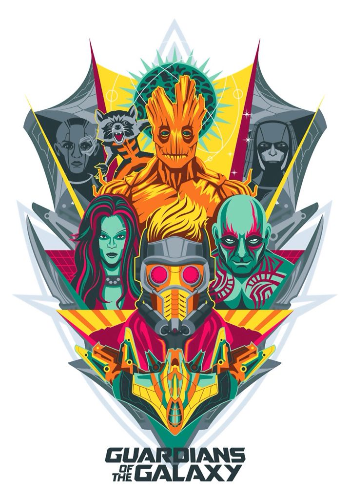 Star-Lord, Gamora, Groot, Drax el Destructor, Rocket Raccoon, Nebula, Ronan el Acusador- Chris Pratt, Zoe Saldana, Vin Diesel, Dave Bautista, Bradley Cooper, Karen Guillan, Lee Pace