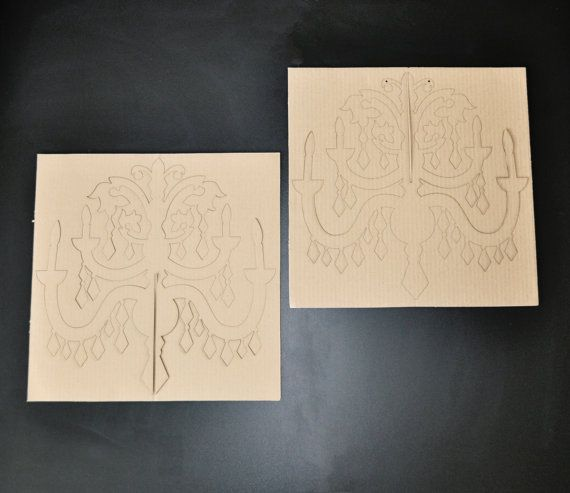 DIY Cardboard Chandelier LARGE by sayhelloshop on Etsy
