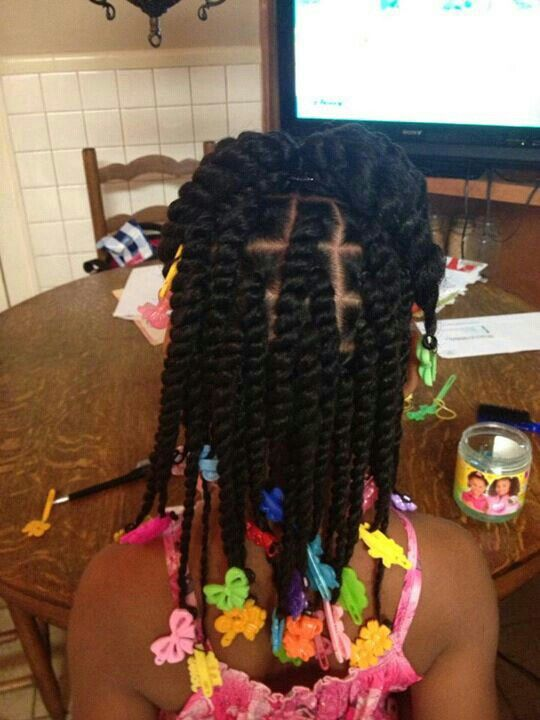 My Momma never gave me this hairstyle, but I always had a million colorful barrettes.